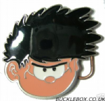 DENNIS the MENACE HEAD Belt Buckle + display stand